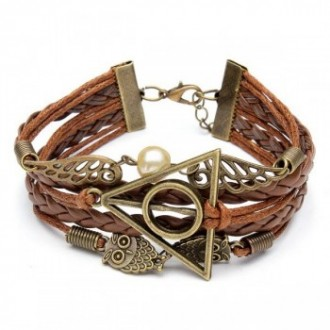 Bracelet superposé en cuir tressé style bohème