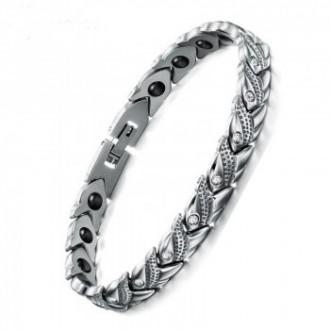Bracelet de guérison magnétique argenté