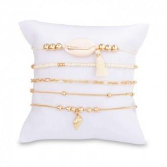 Set de 5 bracelets dorés tendance
